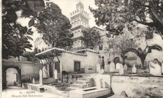 Algiers Sidi Abderhaman mosque, cemetery, Algír Sidi Abderhaman mecset, temető