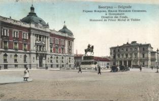 Belgrade Ministry of Finance and Prince Michael statue (EK)