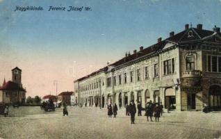 Kikinda, square, book shop, Nagykikinda, Ferencz József tér, könyvkereskedés