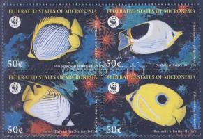 1997 WWF Pillangóhalak sor négyestömbben Mi 583-586