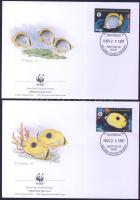 1997 WWF Pillangóhalak sor Mi 583-586 4 FDC-n