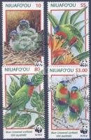 1998 WWF Papagályok sor Mi 326-329