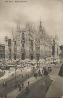 Milano, Milan; Piazza Duomo / square, cathedral, trams