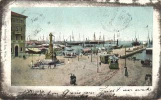 Trieste, quay, trams