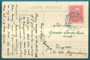 Postcard from Constantinople to Uzhgorod Postkarte aus Istanbul nach Uzhhorod Képeslap Konstantinápolyból Ungvárra