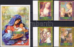 2004 Karácsony Madonna festmények Mi 1612-1615 + blokk 149