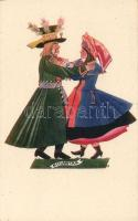 Polish folklore, Kujawiak folkdance s: Stryjenska, Lengyel folklór, Kujawiak néptánc s: Stryjenska