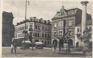 Rumburk, Rumburg; Markt / square, market, hotel