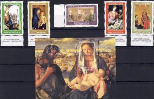 2002 Karácsony Mi 1346-1350 + Bl 113