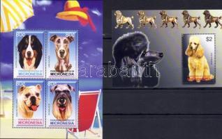 2003 Kutyák Mi 1491-1494 kisív + Bl 123