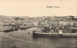 Trieste port, from postcard booklet (fa)