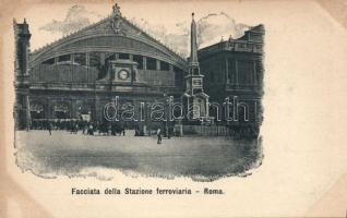 Rome, Roma; Facciata della Stazione ferroviaria / railway station