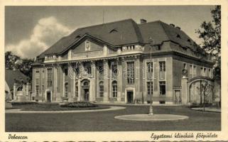 Debrecen Egyetemi klinikák főépülete