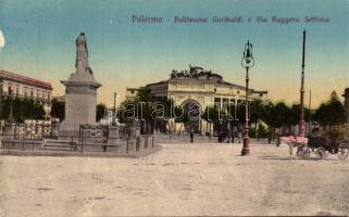Palermo, Politeama Garibaldi, Via Ruggero Settimo / theatre, street