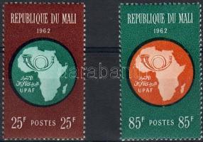 1962 Afrikai postaunió, térkép Mi 51-52
