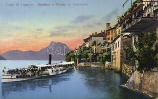 Lago di Lugano, Gandria, Monte S. Salvatore / lake, mountain, SS Italia