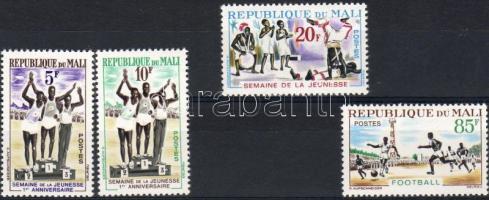 1963 Az ufjúság hete, sport Mi 65-68
