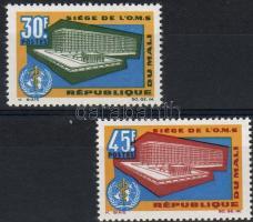 1966 Az egészségügyi világszervezet új épülete Mi 123-124