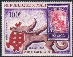 1969 Phileqafrique bélyegkiállítás, bélyeg a bélyegen Mi 179
