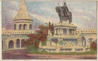 Budapest I. Szent István szobor, Ungarische Werkstätte litho s: Schober