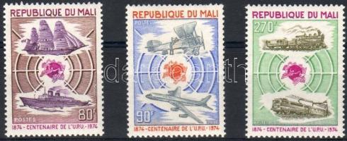 1974 100 éves az UPU Mi 437-439