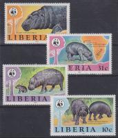 WWF Hippopotamus set, WWF Vízilovak sor, WWF Zwergflußpferd Satz