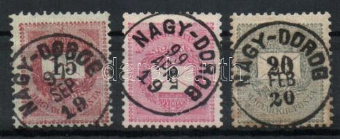 1889-1898 3 klf bélyeg NAGY-DOROG