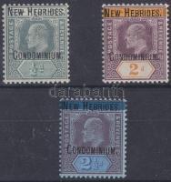 Új Hebridák 1908 Mi 1-3 (Mi EUR 196.-)