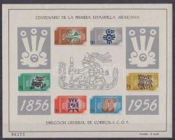 1956 100 éves a mexikói bélyeg Mi blokk 1 (gumihiba)