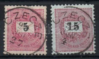 1889 5kr, 15kr CECZE