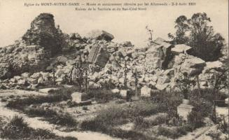 Mont-Notre-Dame, Eglise, Ruines de la Sacristie, Bas Cote Nord / church ruins, mined and completely destroyed by the Germans
