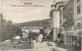 Bártfafürdő Hotel Deák and Erzsébet with the shop of Sándor Szegő