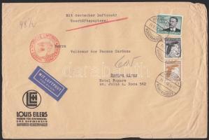 1938 Légi levél Argentínába 3,25 RM bérmentesítéssel / Airmail cover to Argentina with 3,25 RM franking