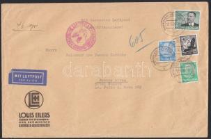 1939 Légi levél Argentínába 3,25 RM bérmentesítéssel / Airmail cover to Argentina with 3,25 RM franking