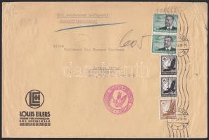 1938 Légi levél Argentínába 6,25 RM bérmentesítéssel / Airmail cover to Argentina with 6,25 RM franking