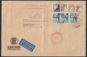 1936 Légi levél Argentínába 7,75 RM bérmentesítéssel / Airmail cover to Argentina with 7,75 RM franking