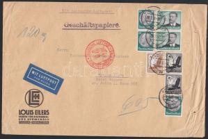1937 Légi levél Argentínába 7,75 RM bérmentesítéssel / Airmail cover to Argentina with 7,75 RM franking