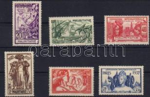 1937 Párizsi világkiállítás Mi 70-75