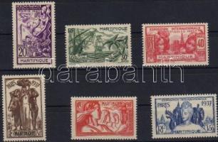 1937 Párizsi világkiállítás Mi 161-166