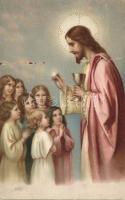 Jesus and children litho, Jézus és gyerekek litho