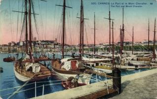 Cannes, Port, Mont Chevalier, ships