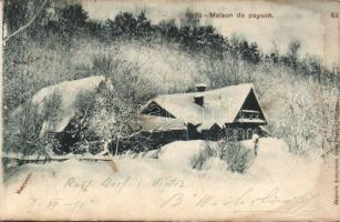 1899 Izba, a traditional Russian cottage, 1899 Izba, hagyományos orosz kunyhó