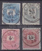 1881-1889 4 klf bélyeg KOMÁDI