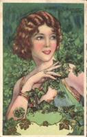 Italian art postcard Ballerini & Fratini 381. s: Piattoli (EK)