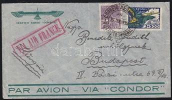 Airmail cover to Hungary, Légi levél Budapestre, Flugpost nach Ungarn
