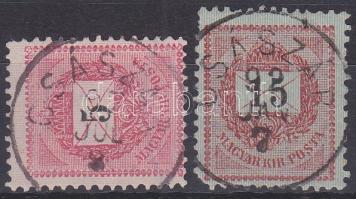 1889 5kr, 15kr CSÁSZÁR