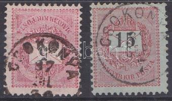 1889 5kr és 15kr CSOKONYA