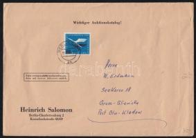 1955 Mi 207 levélen