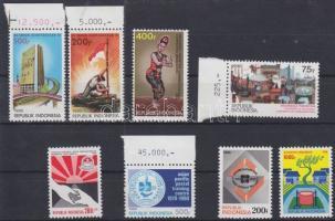 1990-1991 8 verschiedene Marken, manche mit Rand, 1990-1991 8 klf eseménybélyeg, közte ívszéli bélyegek, 1990-1991 8 divers event stamp, with margin ones