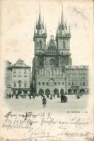 1898 Praha, Prag; Die Teinkirche / church, shop of Em. Altschul